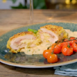 Ainsley Harriott chicken cordon bleu, with cannellini mash and cherry tomatoes recipe on Ainsley's Food We Love