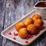 Simon Rimmer coconut rice balls with chocolate dipping sauce recipe on Sunday Brunch