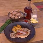 John Whaite pan seared pork with mushroom stroganoff recipe on Steph's Packed Lunch