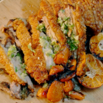 Jeremy Pang crispy pork belly with carrots and a ginger and spring onion oil recipe on Ainsley's Food We Love