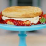 Juliet Sear Victoria sponge scone layer cake recipe on Ainsley's Food We Love