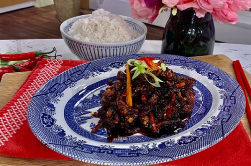 Gok Wan Friday night crispy chilli beef with rice recipe ...