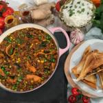 Nisha Katona spicy lamb keema with rice and a keema toastie recipe on This Morning