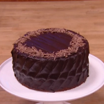 John Whaite chocolate fudge cake with cream tomato soup recipe on Steph's Packed Lunch