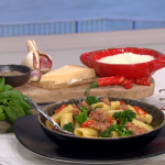 Joseph Denison-Carey spicy sausage with fennel, chilli and broccoli pasta recipe on This Morning