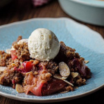 Simon Rimmer vegan plum and apple crumble recipe on Sunday Brunch