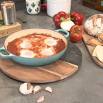 James May shakshuka (onion, pepper and tomato stew with poached eggs) recipe on This Morning