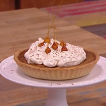 John Whaite bonfire toffee and hazelnut tart recipe on Steph's Packed Lunch