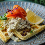 Simon Rimmer Buttermilk Waffles With Smoked Trout And Fennel Remoulade recipe on Sunday Brunch