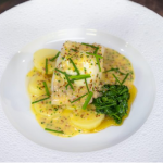 Daniel Clifford smoked haddock, new potatoes with grain mustard beurre blanc and buttered spinach recipe on James Martin's Saturday Morning