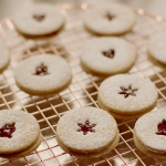 Nigella Lawson linzer cookies with skinned toasted hazelnuts and raspberry jam recipe on Nigella's Cook, Eat, Repeat Christmas Special