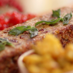 Lisa Faulkner nut roast with piccalilli recipe on John and Lisa's Weekend Kitchen