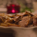 Nigella Lawson steamed roast duck with red cabbage, onions and cranberries recipe on Saturday Kitchen