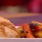 Simon Rimmer jackfruit strudel with sage and onion recipe on Steph's Packed Lunch
