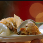 Jamie Oliver anything goes Christmas strudel with leftovers, custard and vanilla ice cream recipe  on Jamie: Keep Cooking at Christmas