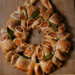 Jamie Oliver Christmas butternut squash and sausage roll wreath with cranberries and English mustard recipe  on Jamie: Keep Cooking at Christmas