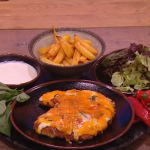 Freddy Forster chicken parmo recipe on Steph's Packed Lunch