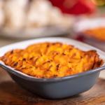 Lisa Faulkner vegetarian cottage pie recipe on John and Lisa's Weekend Kitchen