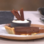 Joseph Denison Carey chocolate and salted caramel tart recipe on This Morning