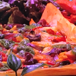 Ruby Bhogal filo roast veg pizza recipe on Steph's Packed Lunch
