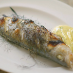 Rick Stein whole sea bass with a chive and fennel mayonnaise recipe on Rick Stein's Cornwall