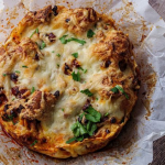 Simon Rimmer cheese and nduja strata recipe on Sunday Brunch
