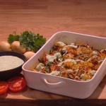 Simon Rimmer Bombay potato and cauliflower traybake recipe on Steph's Packed Lunch