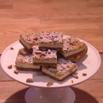 John Whaite apple crumble cheesecake bars recipe on Steph's Packed Lunch
