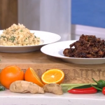 James Martin deep fried chilli beef and egg-fried rice with prawn toast recipe on This Morning