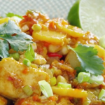 Ching He Huang Crispy Sweet Chilli Tofu with Water Chestnuts and Jasmine Rice recipe on Lorraine