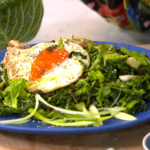 Melissa Hemsley spicy nutty noodles with peanut butter, chicken and a fried egg recipe on Lorraine