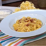 Joseph Denison Carey tagliatelle carbonara with fresh pasta and guanciale recipe on This Morning