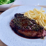 James Martin special steak frites with peppercorn sauce and a green salad recipe on This Morning
