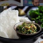 Simon Rimmer Aubergine Mash With Crispy Rice Paper recipe on Sunday Brunch