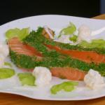 Raymond Blanc salmon gravadlax with cucumber, cauliflower and horseradish creme fraiche recipe