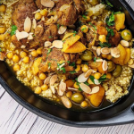 Simon Rimmer chicken tagine with chickpeas and Bulgur wheat recipe on Sunday Brunch