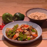 Kwoklyn Wan Cantonese chicken with green peppers and black bean sauce recipe on Steph's Packed Lunch