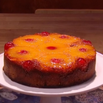 Freddy and Tristan Forster pineapple upside down cake recipe on Steph's Packed Lunch