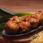 John Whaite fish pie potato skins recipe on Steph's Packed Lunch