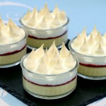 Paul Hollywood queen of puddings with jam and baked French meringue recipe on The Great Celebrity Bake Off for SU2C