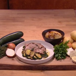 Jack Stein slow roasted lamb with boulangere potatoes recipe on Steph's Packed Lunch