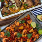 Dr Rupy easy one tray dinners with prawn tacos, roasted vegetables and baked halloumi cheese recipe on This Morning