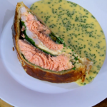 James Martin Salmon en Croute with Beurre Blanc Sauce recipe on James Martin's Saturday Morning