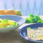 Nisha Katona Sicilian citrus tuna with courgette salad and a onion, mint and orange sauce recipe on A Taste Of Italy