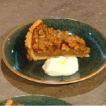 Matt Tebbutt walnut and caramel tart with maple syrup recipe on Saturday Kitchen