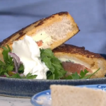 John Torode super simple French toast with smoked salmon and cream cheese recipe on This Morning