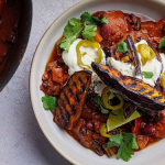 Simon Rimmer aubergine chilli recipe on Sunday Brunch