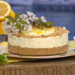 Clodagh McKenna no-bake cheesecake with digestive biscuits and hazelnuts recipe on This Morning