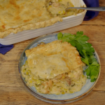 Ainsley Harriott tarragon crusted chicken with leek and mushroom pie recipe on Ainsley's Food We Love