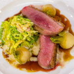 Michael Caines honey roast Cornish duckling with creamed cabbage and braised turnips recipe on James Martin's Saturday Morning